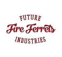 Future Industries' Fire Ferrets (Red) Photographic Print