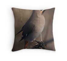 PSE treated Waxwing Throw Pillow