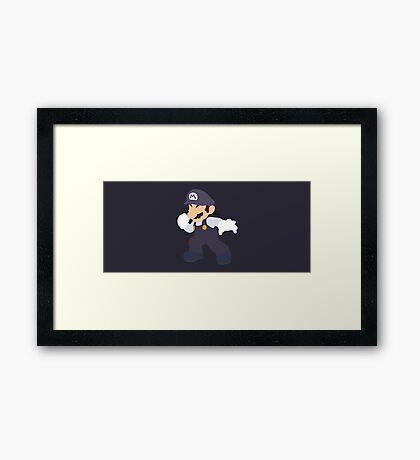 Mario (Cookies & Cream) - Super Smash Bros. Framed Print