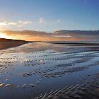 A winter sunset on the beach by Adri  Padmos