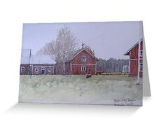 Gunners barn after the thaw Greeting Card