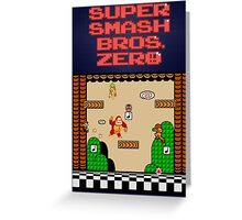 Super Smash Bros. Zero - Stage 1 - Retro Gaming Greeting Card