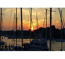 Sunset - Annapolis Maryland Photographic Print