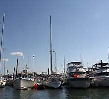 Boats at Rest, Winthrop Yacht Club by kgarrahan