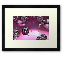 Pink Bubbles! Framed Print