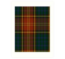 00352 Roscommon County District Tartan  Art Print