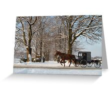 Horse and Buggy - Bird in Hand Greeting Card