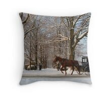 Horse and Buggy - Bird in Hand Throw Pillow