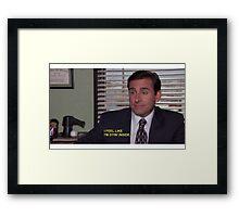 """""""i feel like I'm dying inside"""" Framed Print"""