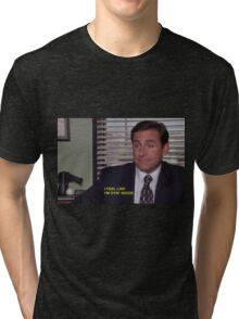 """i feel like I'm dying inside"" Tri-blend T-Shirt"