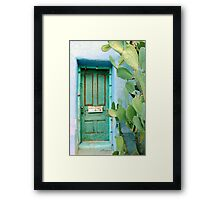 Green in the Desert Framed Print