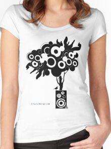 Funky Speaker Tree Women's Fitted Scoop T-Shirt