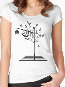 Hanging Around Women's Fitted Scoop T-Shirt