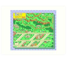 Onett Town Map - Earthbound/Mother 2 Art Print
