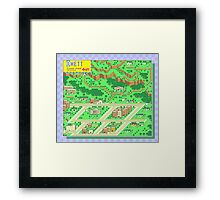 Onett Town Map - Earthbound/Mother 2 Framed Print