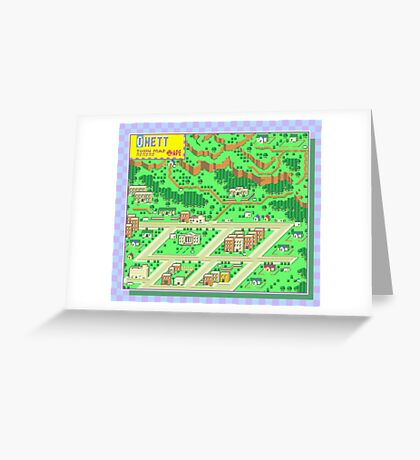 Onett Town Map - Earthbound/Mother 2 Greeting Card