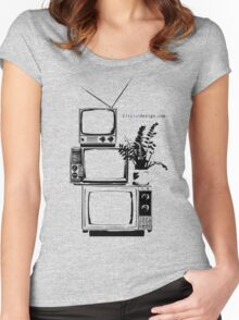 TV Stand Women's Fitted Scoop T-Shirt