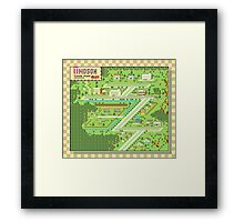 Twoson Town Map - Earthbound/Mother 2 Framed Print