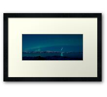Aurora Borealis -The natural fireworks in the sky Framed Print