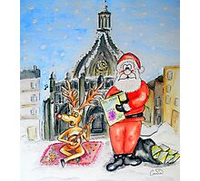 Santa Visits Chichester Photographic Print