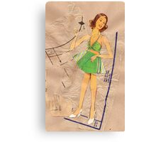 lady with halterneck dress, 2010 Canvas Print