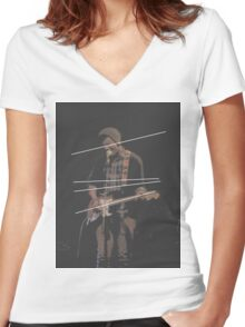 Holland Tunnel Guitarist Women's Fitted V-Neck T-Shirt