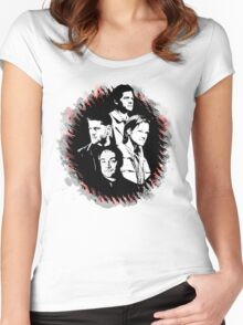Supernatural - Heaven, Earth, and Hell Women's Fitted Scoop T-Shirt