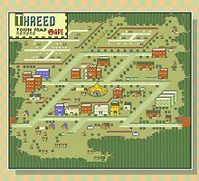Threed Town Map - Earthbound/Mother 2 by Studio Momo╰༼ ಠ益ಠ ༽