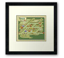 Threed Town Map - Earthbound/Mother 2 Framed Print