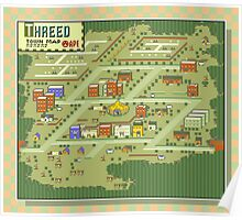 Threed Town Map - Earthbound/Mother 2 Poster