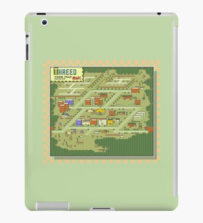 Threed Town Map - Earthbound/Mother 2 iPad Case/Skin