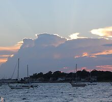 Sunset, Winthrop Harbor by kgarrahan