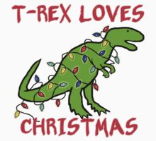 T-REX LOVES CHRISTMAS Kids Tee