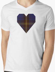 00354 Sligo County District Tartan Mens V-Neck T-Shirt