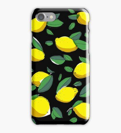 lemon zinger in black iPhone Case/Skin