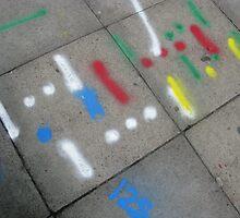 Pavement graffiti by Holly Burns
