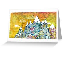 Maps and Mountains Greeting Card