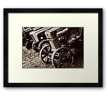 Antique Tractor Line Up Framed Print