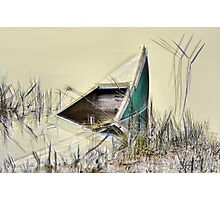 Sunken Canoe Photographic Print