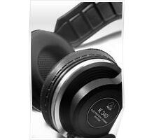 AKG K340 Headphones Poster