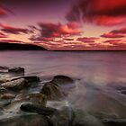 Sunset on the beach. by Igors