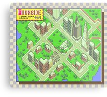 Fourside Town Map - Earthbound/Mother 2 Metal Print