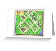 Fourside Town Map - Earthbound/Mother 2 Greeting Card