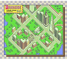 Fourside Town Map - Earthbound/Mother 2 Photographic Print