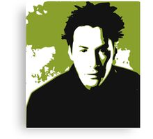 Keanu Reeves in the Matrix, Green Color Canvas Print