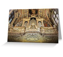 Organ --- 'St Mary of Jesus Church' Valletta Malta Greeting Card