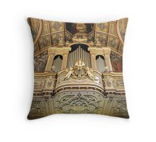 Organ --- 'St Mary of Jesus Church' Valletta Malta Throw Pillow