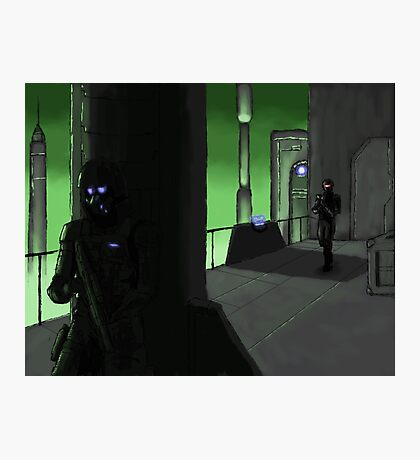 Stealth on the Docks Photographic Print