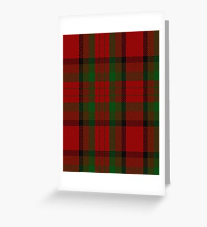 00356 Tipperary County District Tartan  Greeting Card