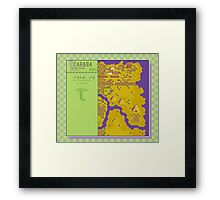 Scaraba Town Map - Earthbound/Mother 2 Framed Print